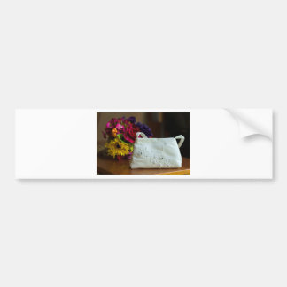 Wedding Bag & Bouquet Bumper Sticker