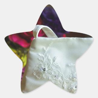 Wedding Bag & Bouquet Star Sticker