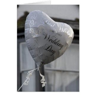 Wedding Balloon Greeting Card