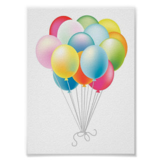 Wedding Balloons Bunch Poster