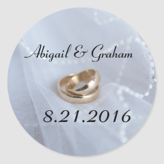 Wedding Bands Invitation Seal Round Sticker