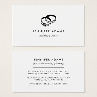 Wedding Bands | Modern Wedding Planner Business Card