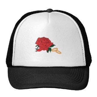 Wedding Bands & Rose Cap