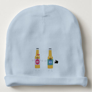 Wedding Beerbottle couple Zn4bx Baby Beanie