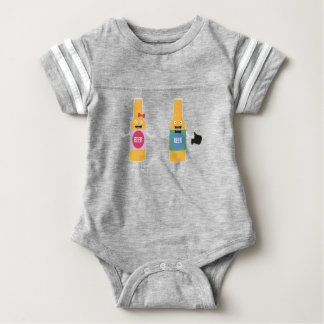 Wedding Beerbottle couple Zn4bx Baby Bodysuit