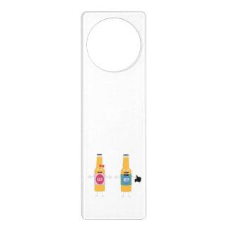Wedding Beerbottle couple Zn4bx Door Hanger