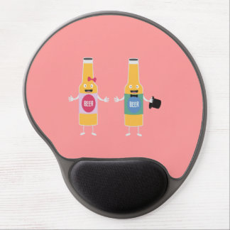 Wedding Beerbottle couple Zn4bx Gel Mouse Pad