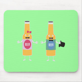 Wedding Beerbottle couple Zn4bx Mouse Pad