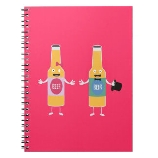 Wedding Beerbottle couple Zn4bx Notebooks