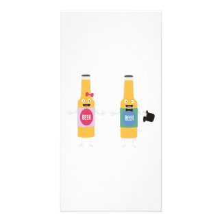 Wedding Beerbottle couple Zn4bx Photo Greeting Card