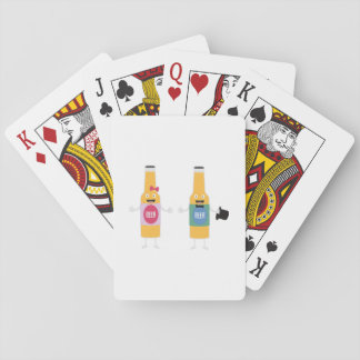 Wedding Beerbottle couple Zn4bx Playing Cards