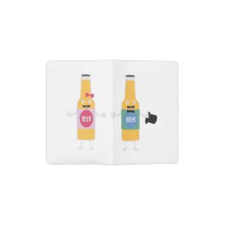 Wedding Beerbottle couple Zn4bx Pocket Moleskine Notebook
