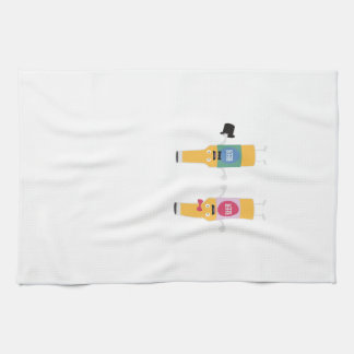 Wedding Beerbottle couple Zn4bx Tea Towel