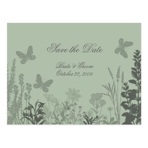Wedding Belle Save the Date Postcard