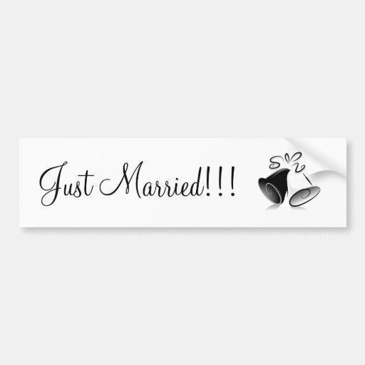 Wedding Bells Bumper Sticker