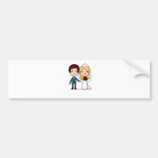 Wedding Bells Bumper Sticker