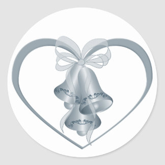 Wedding Bells Classic Round Sticker