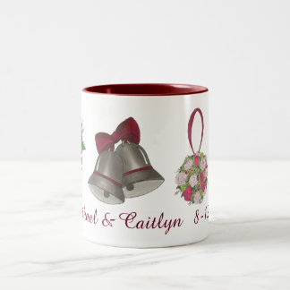 Wedding Bells Flowers Bow Tie Personalized Mug