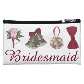 Wedding Bells Flowers Bridesmaid Gift Makeup Case