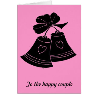 Wedding bells, fuschia card