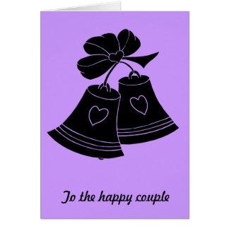 Wedding bells, lilac greeting card