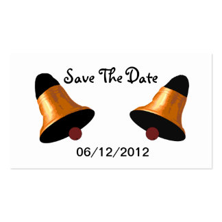 Wedding Bells Save The Date Wedding Card Business Card Template
