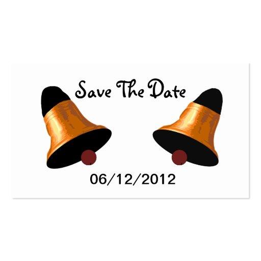 Wedding Bells Save The Date Wedding Card Business Card Template