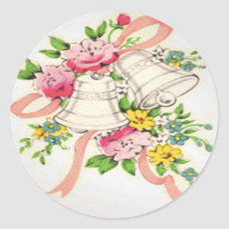 Wedding Bells Round Sticker