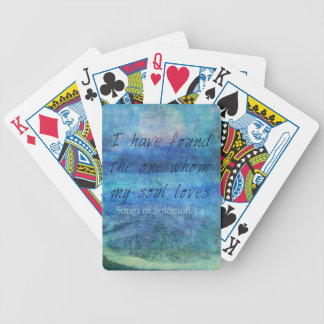Wedding Bible Verse Art Scripture ocean sea Bicycle Playing Cards