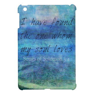 Wedding Bible Verse Art Scripture ocean sea iPad Mini Cover