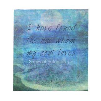 Wedding Bible Verse Art Scripture ocean sea Notepad