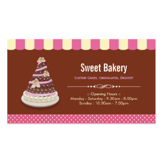 Wedding Birthday Tiered Cake - Sweet Bakery Shop Pack Of Standard Business Cards