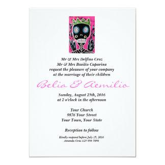 Wedding - Black King Sugar Skull Angel 13 Cm X 18 Cm Invitation Card