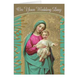 Wedding Blessed Mother Baby Jesus Card