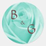 Wedding Blue & Chocolate - stickers