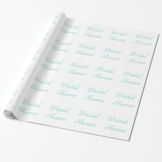 Wedding Blue wrapping paper - Bridal Shower