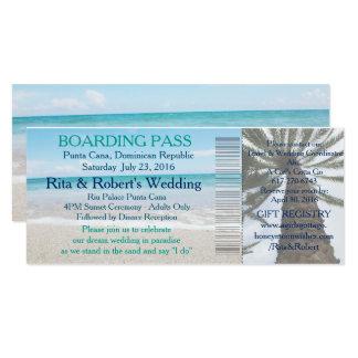 Wedding Boarding Pass Ticket-Destination Card