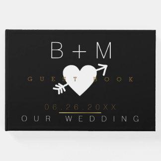 wedding_book, a modern & black guest book