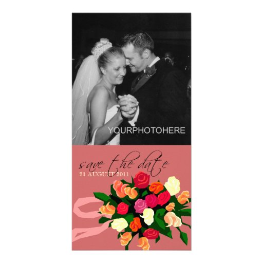 Wedding Bouquet Photo Save the Date Cards Photo Card