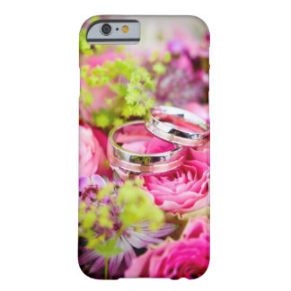 Wedding Bouquet with Wedding Ring Bands Barely There iPhone 6 Case