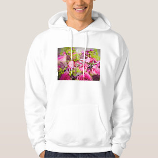 Wedding Bouquet with Wedding Ring Bands Hoodie