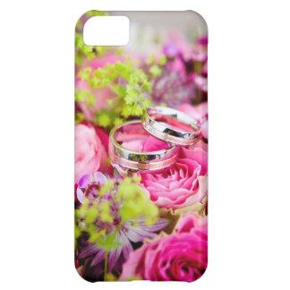 Wedding Bouquet with Wedding Ring Bands iPhone 5C Case