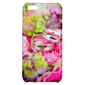 Wedding Bouquet with Wedding Ring Bands iPhone 5C Cover