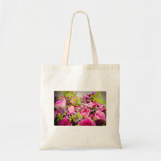Wedding Bouquet with Wedding Ring Bands Tote Bag