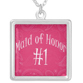 Wedding/Bridal Keepsake for Maid of Honor Square Pendant Necklace