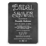 Wedding Bridal Shower | Black Chalkboard Personalized Announcements