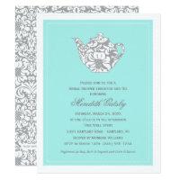 High tea invitations announcements zazzle wedding bridal shower invitation high tea theme stopboris Choice Image