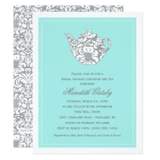 Wedding Bridal Shower Invitation | High Tea Theme