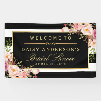 Wedding Bridal Shower Modern Vintage Floral Decor