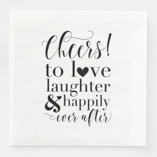 Wedding & Bridal Shower Napkins - Cheers to Love Disposable Serviette